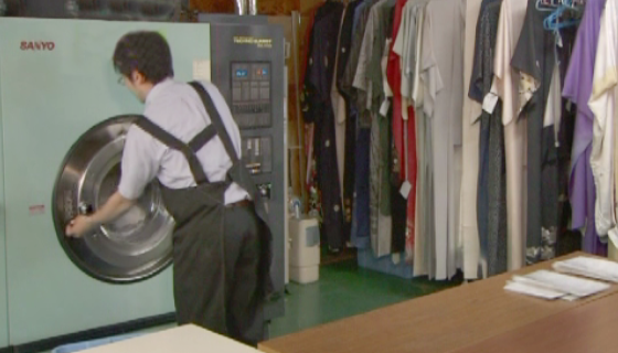 職人による洗い