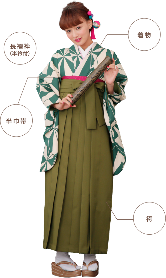 卒業袴・二尺袖レンタル